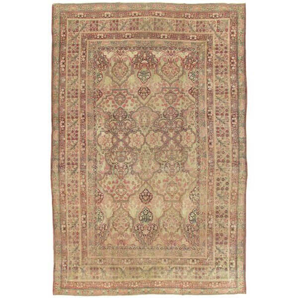 One-of-a-Kind Kermanshah Hand-Knotted Traditional Style Brown 9'10 x 15' Wool Area Rug