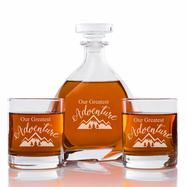 Our Greatest Adventure Engraved 3 Piece Beverage Serving Set by East Urban Home
