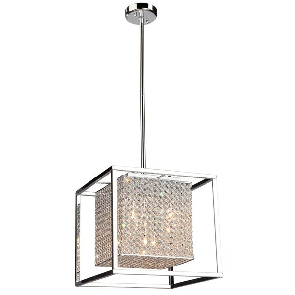 Kasia 5 - Light Unique / Statement Rectangle / Square Chandelier By Orren Ellis