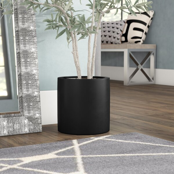 Bristol Fiber Stone Pot Planter by Orren Ellis