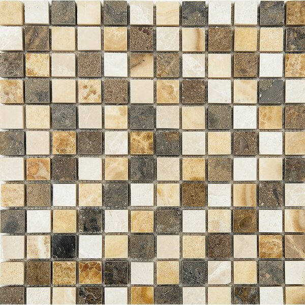 Bosphorus Marble 1 x 1 Stone Mosaic Tile in Onyx Beige Polished by Parvatile