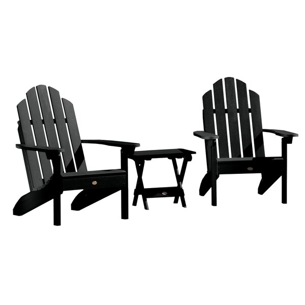 Highpoint Plastic Adirondack Chair with Table by Alcott Hill