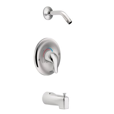 Chateau Tub and Shower Faucet Trim with Lever Handle Moen Finish: Chrome -  TL183NH