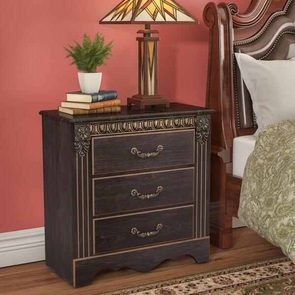 Queenie 3 Drawer Nightstand by Astoria Grand