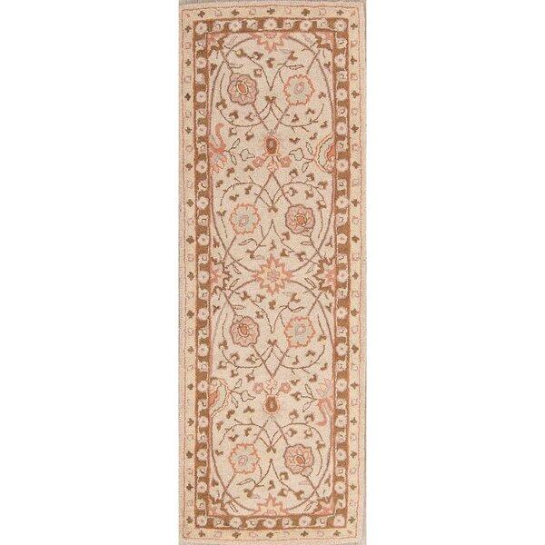 Nassau Street Hand-Tufted Wool Beige/Brown Area Rug