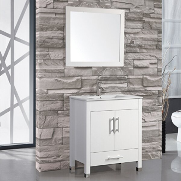 Prahl Contemporary 36 Single Sink Bathroom Vanity Set with Mirror by Orren Ellis
