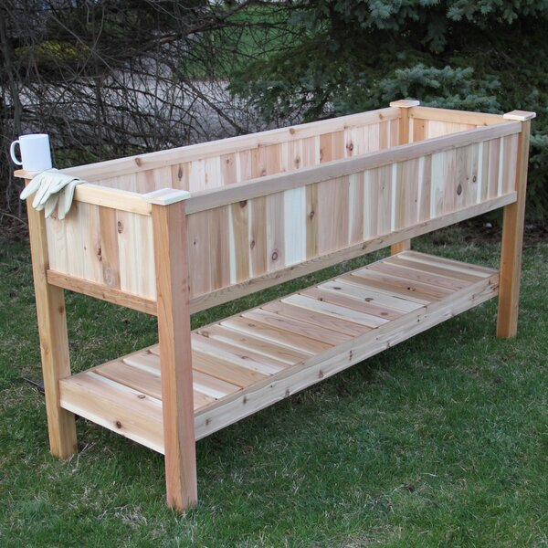 6.5 ft x 2 ft Western Red Cedar Raised Garden by Elite Cedar