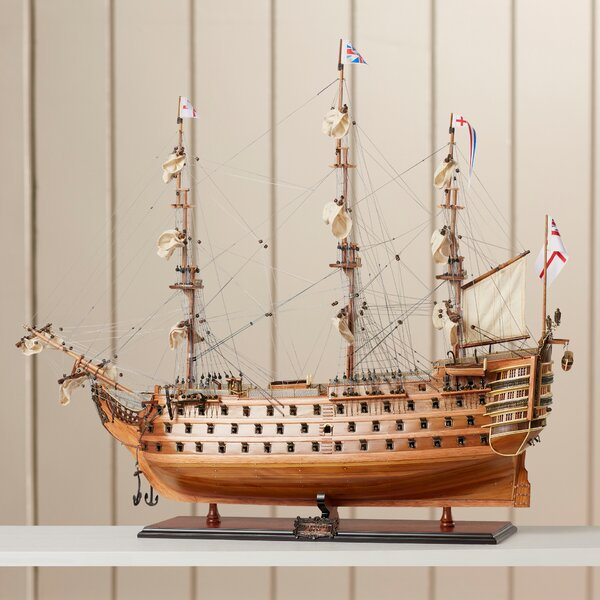 HMS Victory Exclusive Edition Model Boat by Breakwater Bay