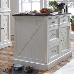 Gargilesse Kitchen Island With Engineered Quartz Top