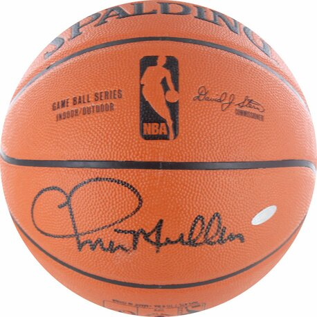 Chris Mullin Signed I/O Basketball by Steiner Sports