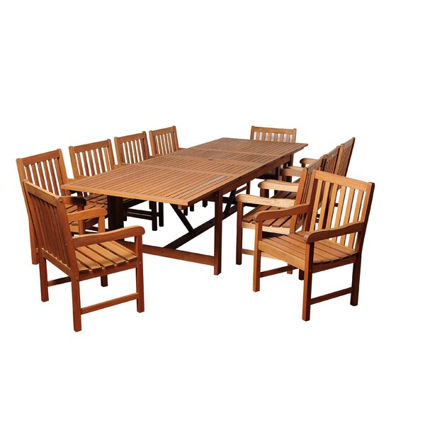Bridgepointe Eucalyptus 11 Piece Dining Set by Rosecliff Heights