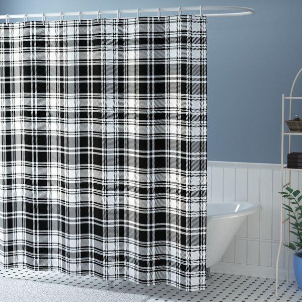 Elmwood British Tartan Pattern Shower Curtain by Winston Porter