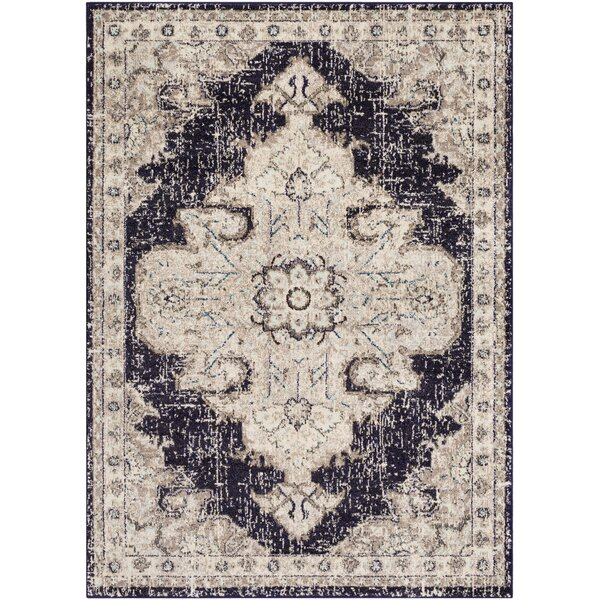 Berry Black/Beige Area Rug by Bungalow Rose