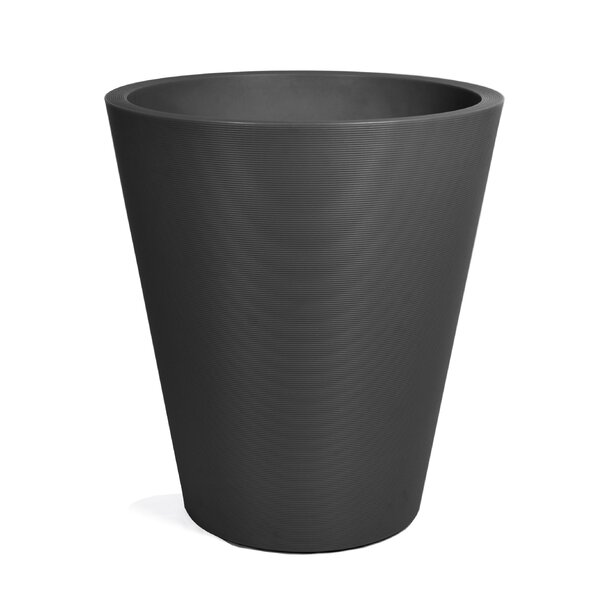 Pro Series Curve Plastic Pot Planter by Veradek