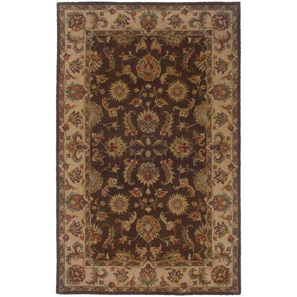Vinoy Hand-made Brown/Beige Area Rug by Astoria Grand