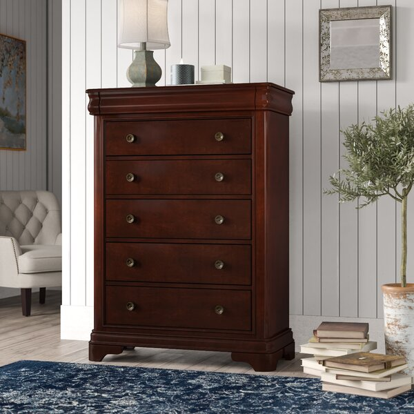 Yadiel 5 Drawer Standard Chest by Alcott Hill