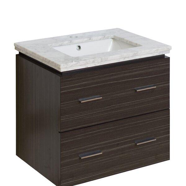 Kyra 24 Multi-Layer Stain Single Bathroom Vanity Set with 2 Drawers by Orren Ellis