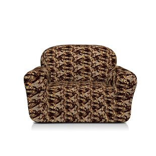 Spandex Stretch Printed Box Cushion Armchair Slipcover