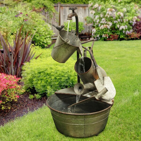 Metal Tiered Garden Tools Fountain by Alpine