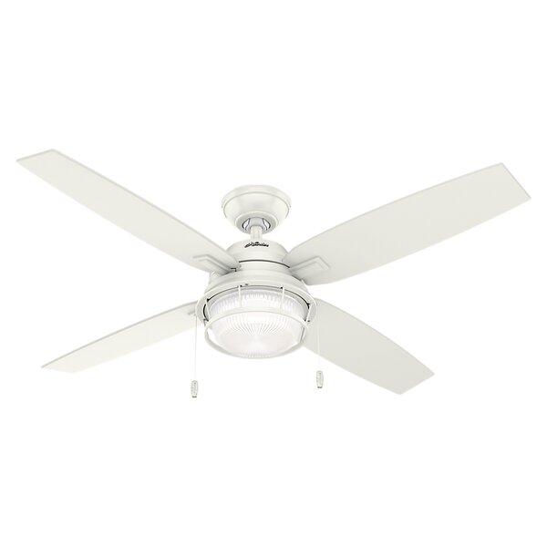 52 Ocala 4 Blade Outdoor Ceiling Fan with Light by Hunter Fan