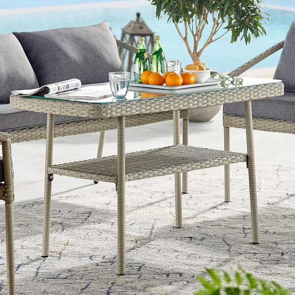 Pancoast Wicker Coffee Table by Highland Dunes