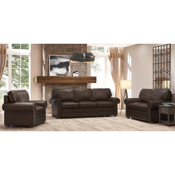 Odessa 3 Piece Leather Living Room Set