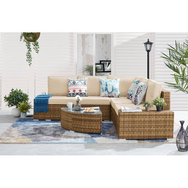 Gorden Outdoor 6 Piece Sectional Seating Group with Cushions by Brayden Studio