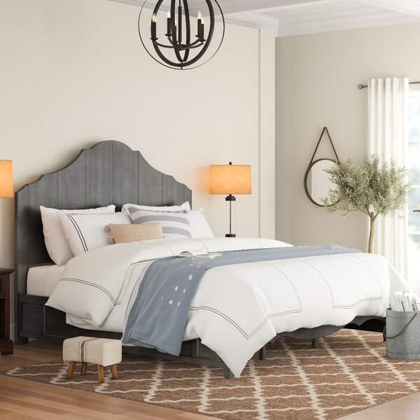 Woodside Scalloped Standard Bed by Three Posts