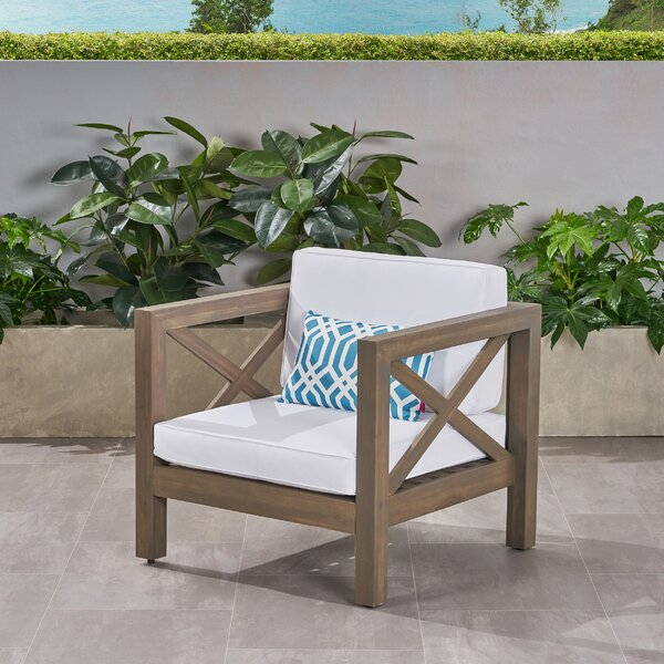 Damico Outdoor Club Patio Chair with Cushions by Highland Dunes