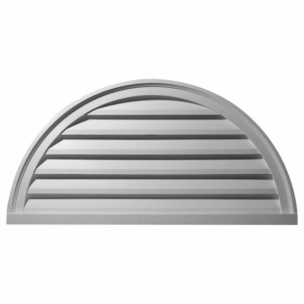 24H x 48W Half Round Gable Vent Louver by Ekena Millwork