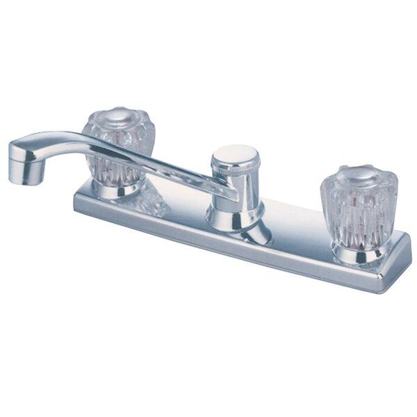 Centerset Double Handle Kitchen Faucet By Kingston Brass