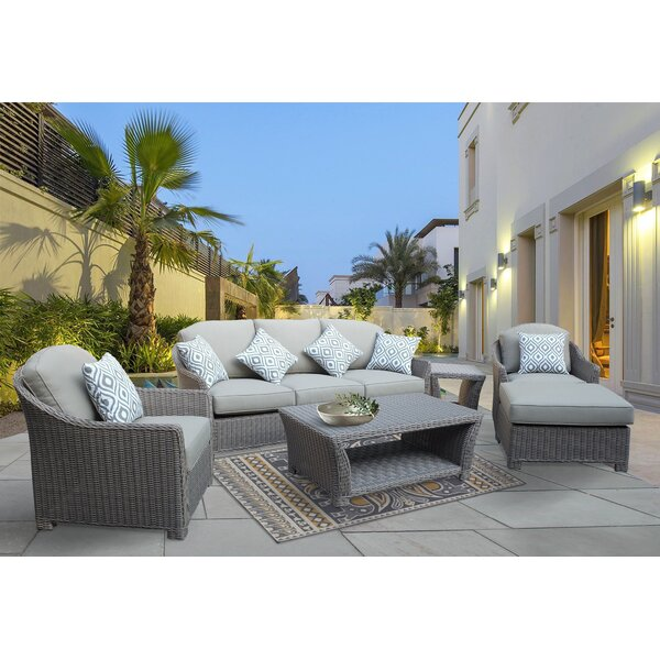 Brokaw 6 Piece Sofa Set with Cushions by Highland Dunes