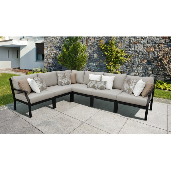 Madison Ave. 6 Piece Sectional Seating Group with Cushions by kathy ireland Homes & Gardens by TK Classics
