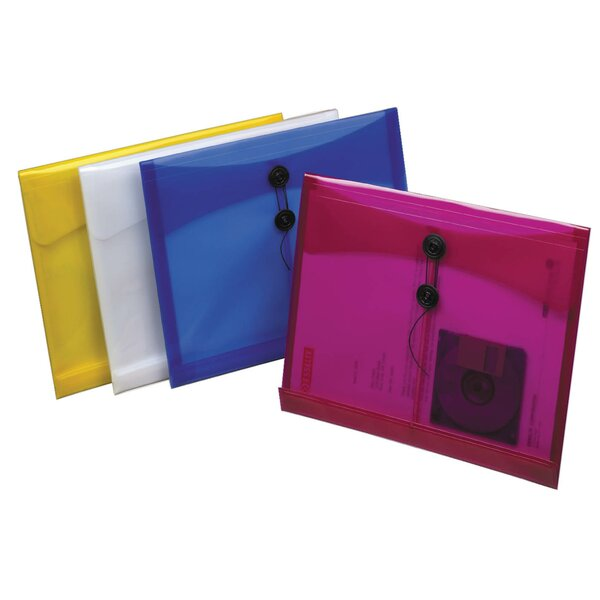 1 Assorted Colors Side Load Poly String Envelope by Pendaflex