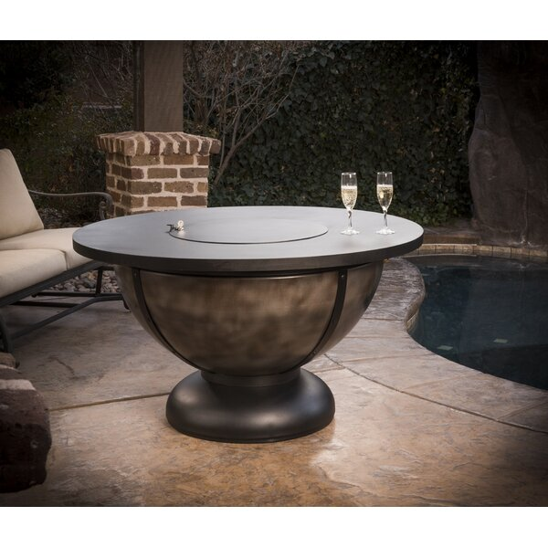 Onyx Steel Natural Gas Fire Pit Table by CC Products