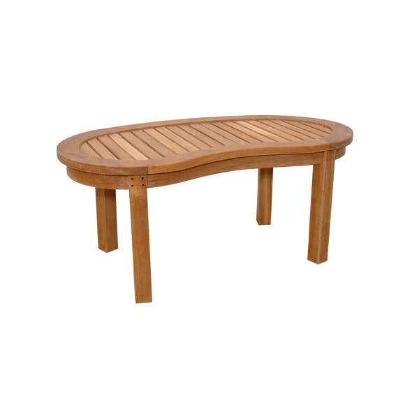 Kidney Curve Teak Coffee Table by Anderson Teak