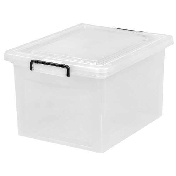 Letter / Legal File Box with Buckles by IRIS USA, Inc.