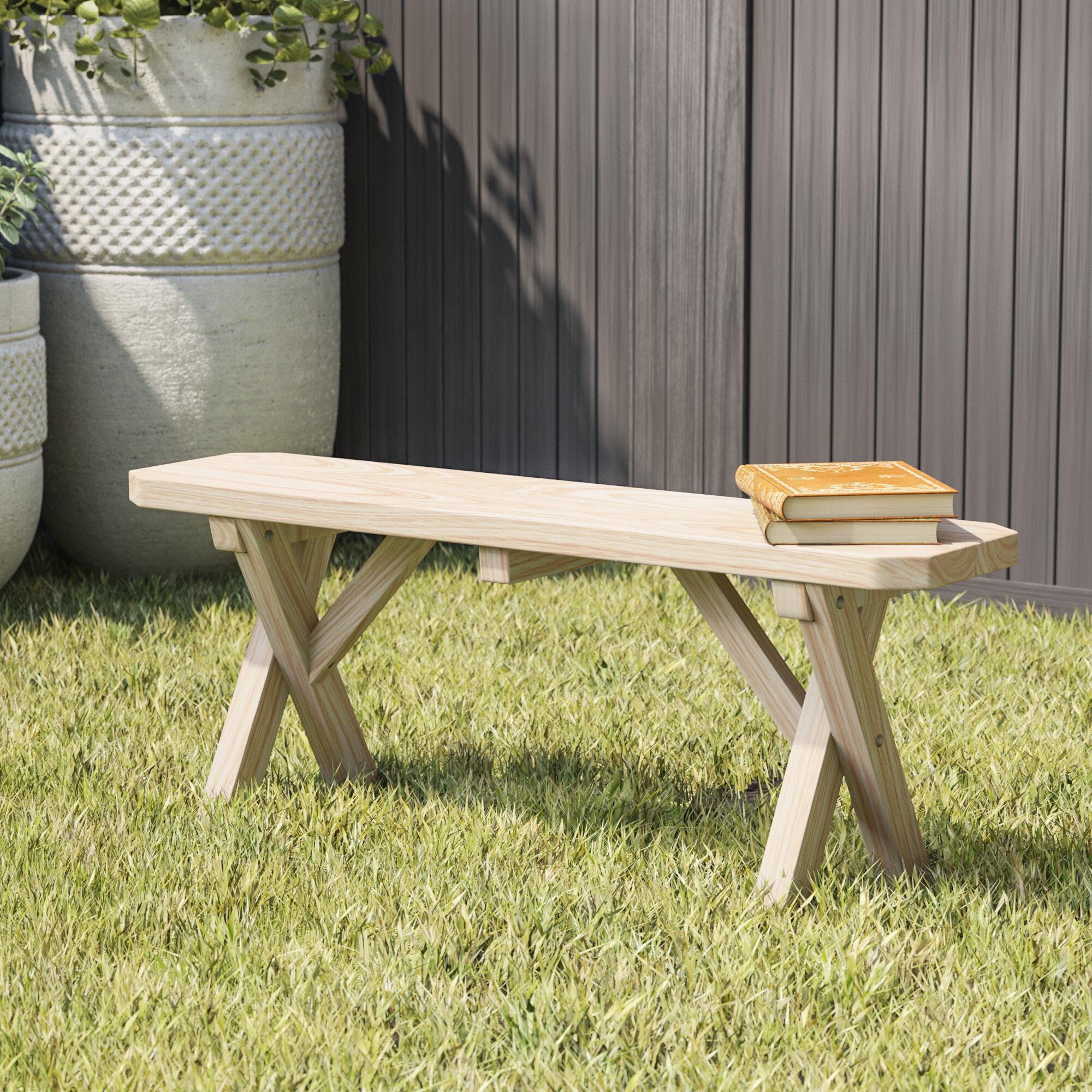 Surprising Loon Peak Sempronius Wood Picnic Bench Reviews Wayfair Evergreenethics Interior Chair Design Evergreenethicsorg
