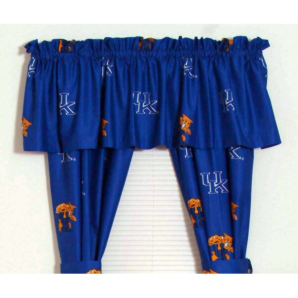 NCAA Kentucky Printed Sports Rod Pocket Curtain Panels (Set of 2) by College Covers