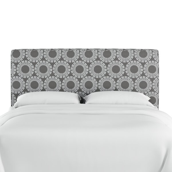 Edford Medallion Upholstered Panel Headboard by Wrought Studio