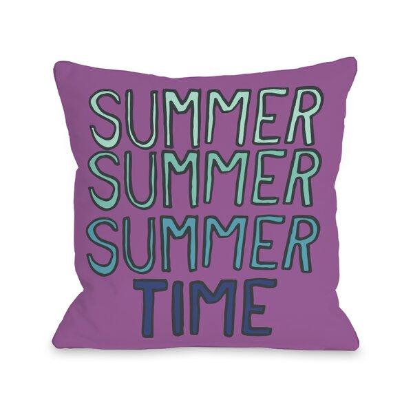 Summer Summer Time Throw Pillow by One Bella Casa