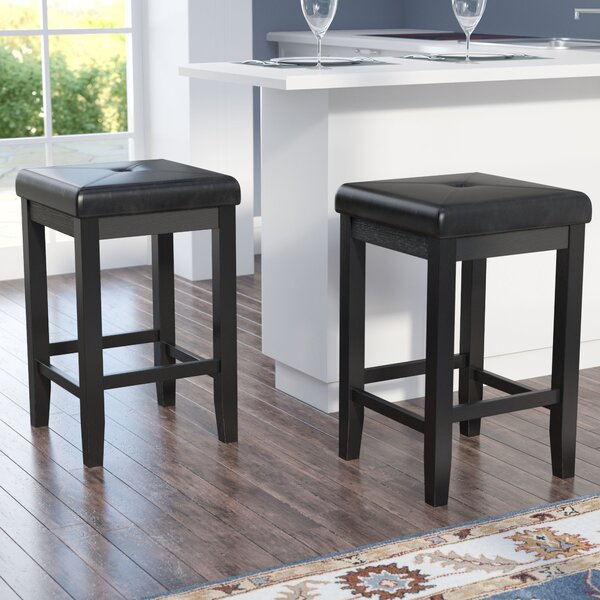 Frida 24 Bar Stool with Cushion (Set of 2) by Darb