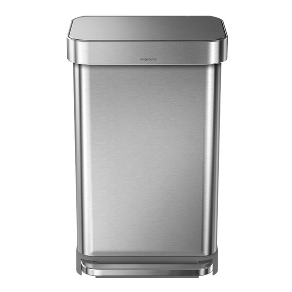 11.9 Gallon Rectangular Step Trash Can with Liner Pocket by simplehuman