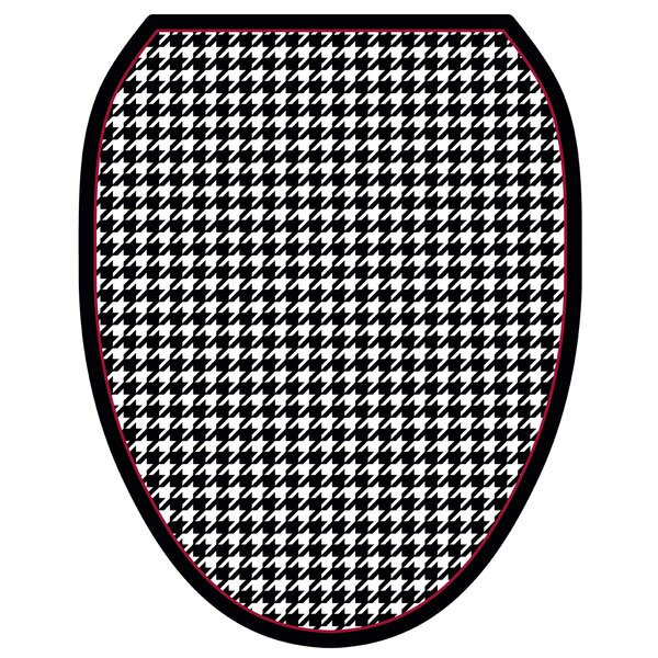 Houndstooth Toilet Seat Decal by Toilet Tattoos