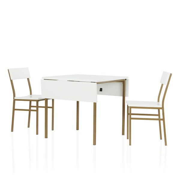 Mercer 3 Piece Drop Leaf Dining Set by CosmoLiving by Cosmopolitan CosmoLiving by Cosmopolitan