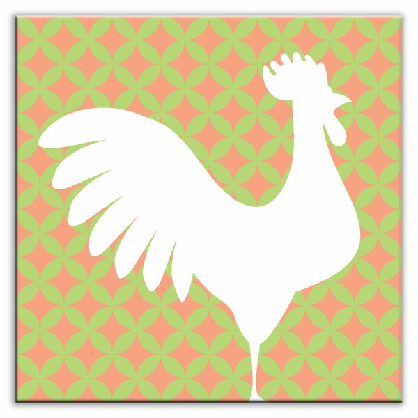 Folksy Love 6 x 6 Glossy Decorative Tile in Doodle-Do Pink Right by Oscar & Izzy