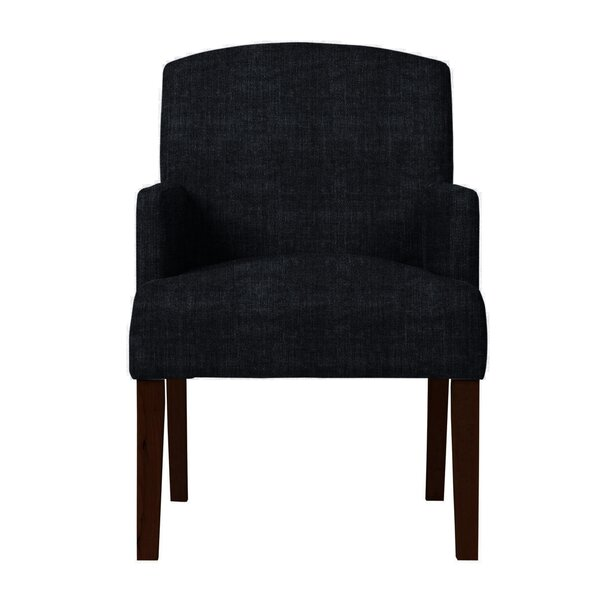 Arturo Solid Back Arm Chair by Langley Street