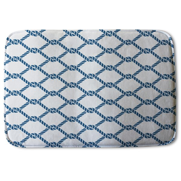 Brentwood Chain Link Rope Designer Rectangle Non-Slip Geometric Bath Rug
