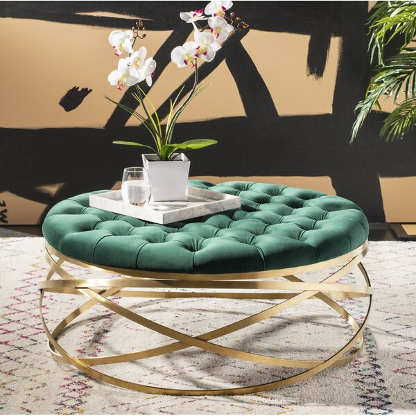 Futral Tufted Cocktail Ottoman by Everly Quinn