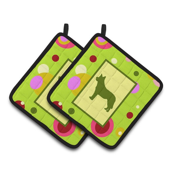 Dots Australian Cattle Dog Potholder (Set of 2) by Caroline's Treasures